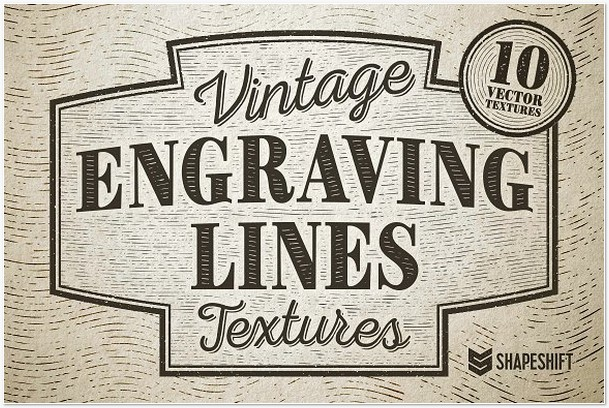 Vintage Engraving Lines Textures