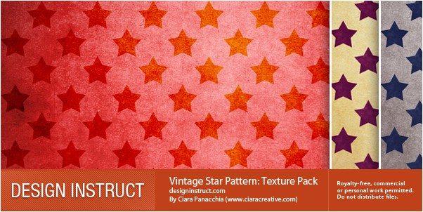 Vintage Star Pattern Texture Pack