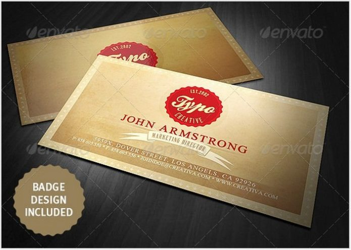 Vintage Style Business Card # 2