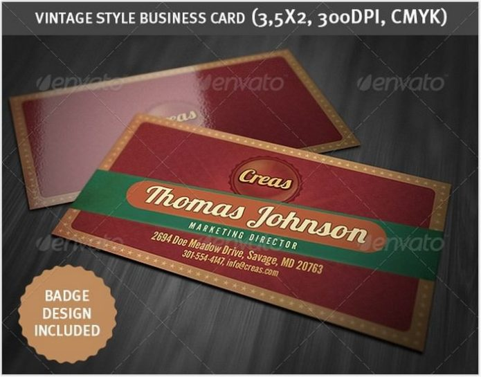 Vintage Style Business Card