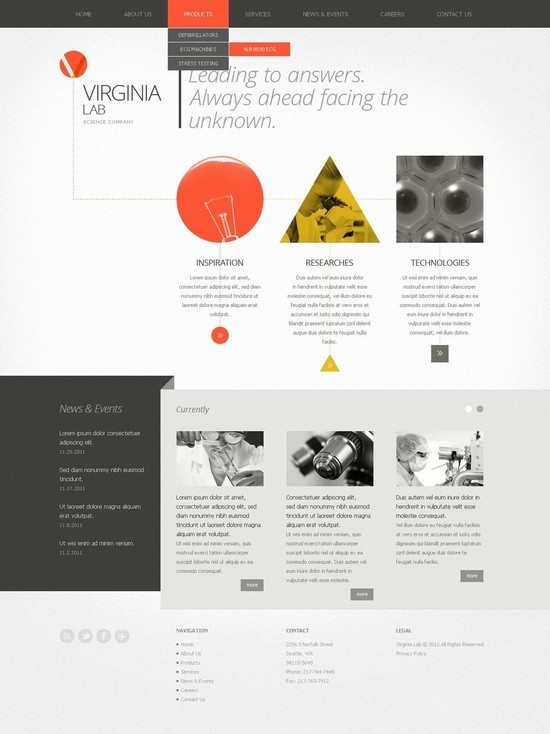 Virginia Lab Science Lab Website Template