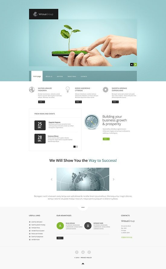 Virtous group onsulting Responsive Website Template