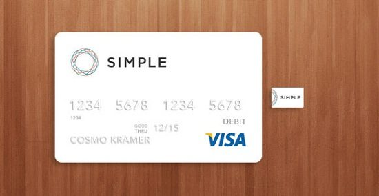 Visa credit card mockup PSD