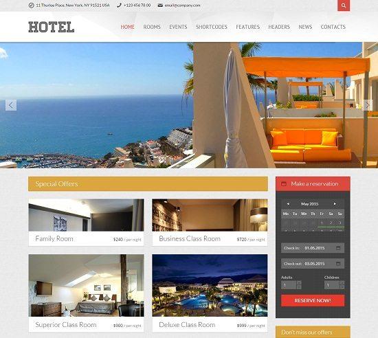 Viva Hotel Premium Responsive WordPress Theme