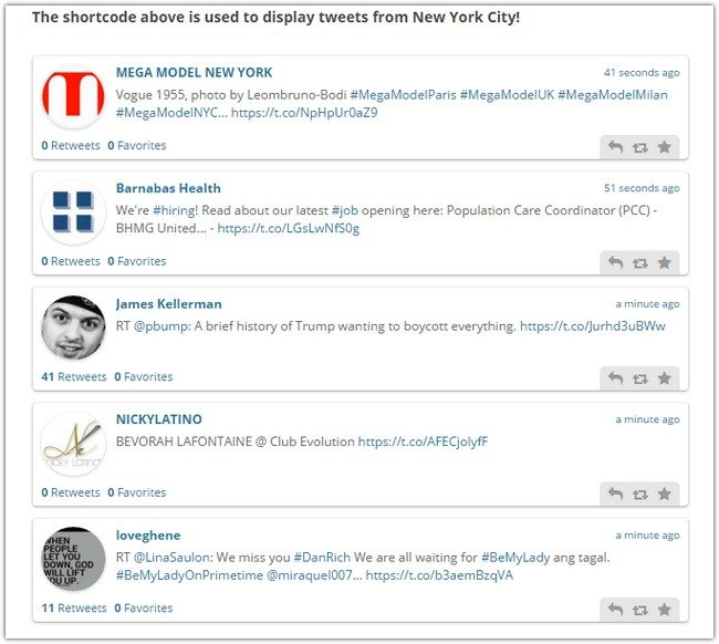 Vivo Live Tweets - WordPress Plugin