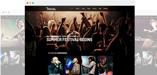 Vocal Music Events & Dance and Night Club Joomla Template