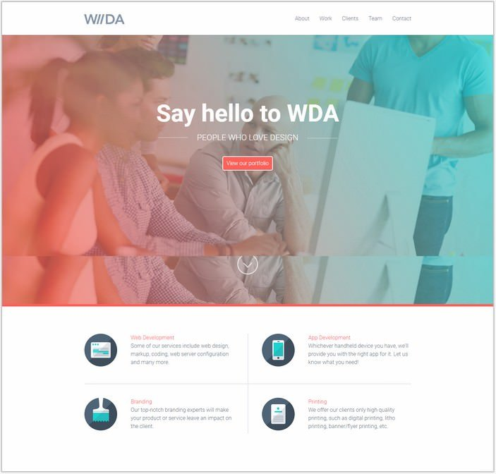 WDA - One Page WordPress Theme