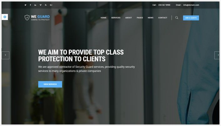 WE GUARD - Security & Guarding Services HTML