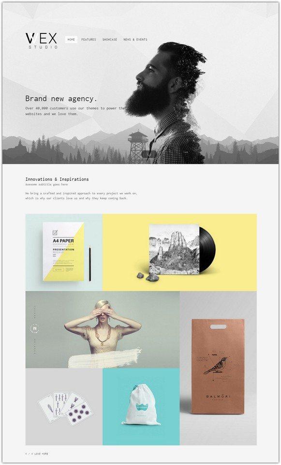 WEX - Minimalistic WordPress Portfolio Theme