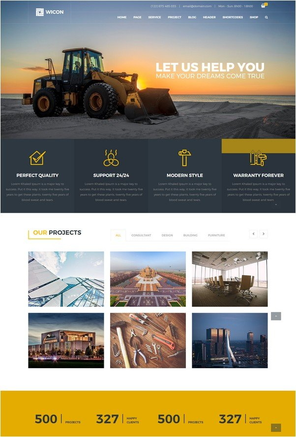 WICON Construction & Building HTML Template