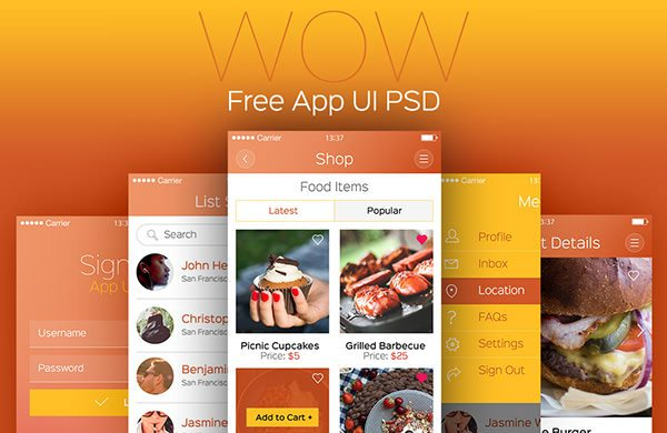 WOW: Modern Mobile App UI