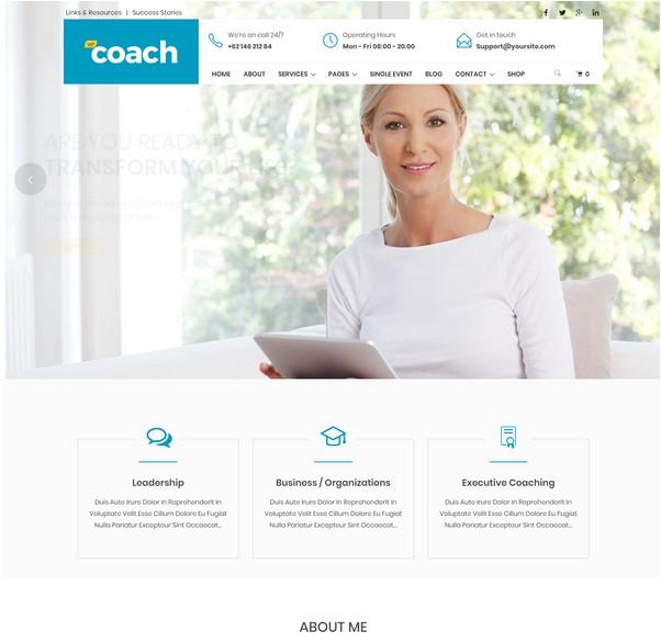 WP Coach - Life, Health and Business Coach WordPress Theme