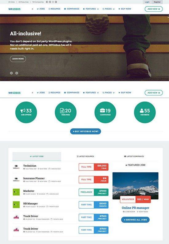 WPJobus - Job Board and Resumes WordPress Theme