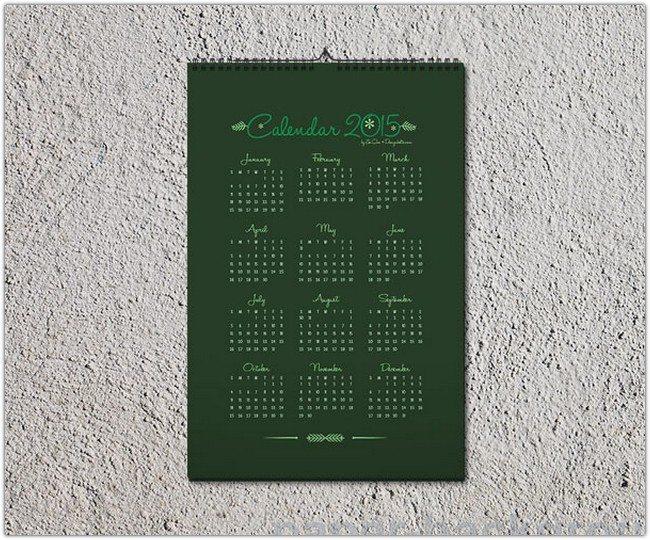 Wall Calendar 2015 Design