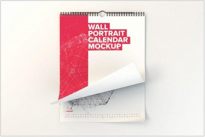 Wall Calendar Mock up Design