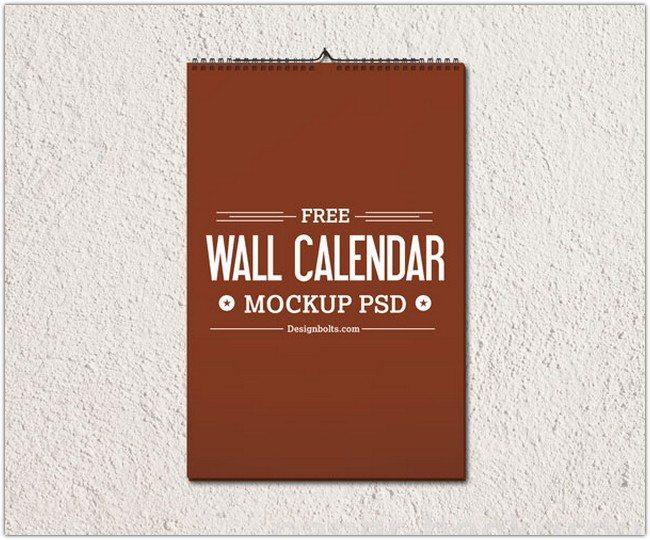 Wall Calendar Template Mockup PSD