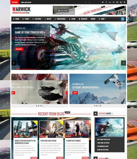 Warwick - Responsive News Magazine WordPress Theme
