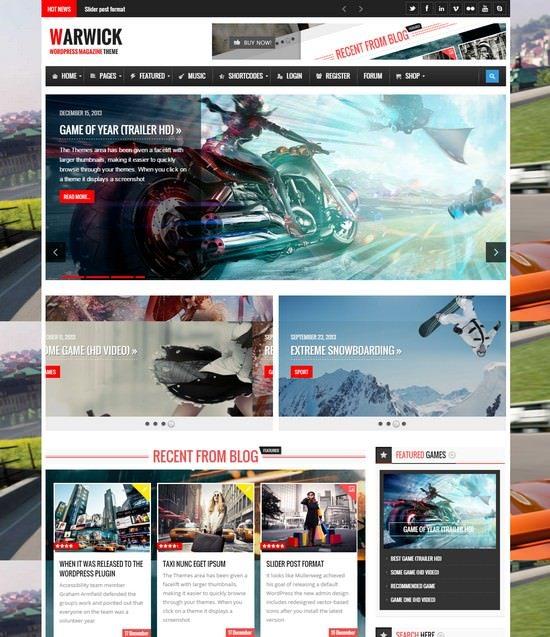 Warwick - Responsive News Magazine WordPress Theme