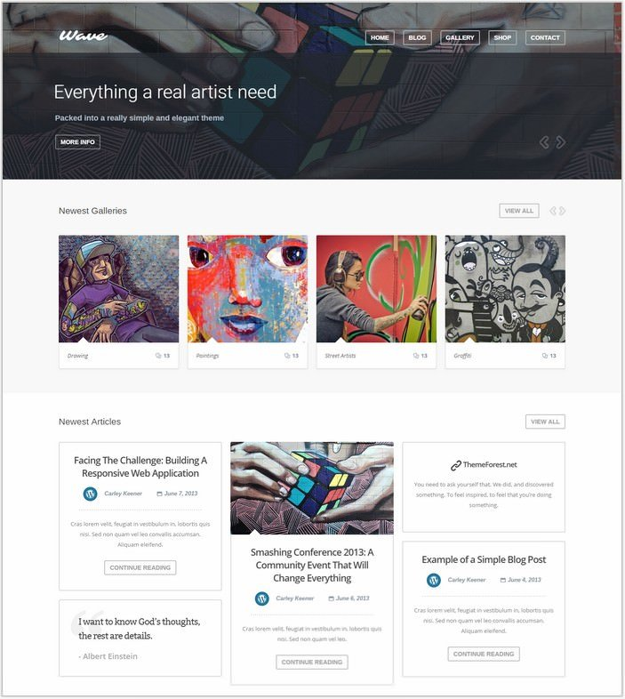 Wave - WordPress Theme for Artists