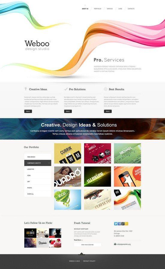 Weboo Design Studio Responsive Website Template