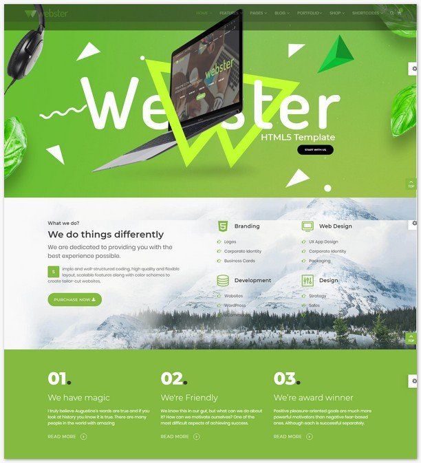 Webster - Responsive Multi-purpose HTML5 Template