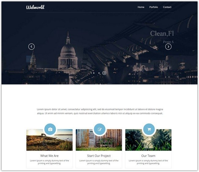 Webworld Corporate Flat Responsive web template