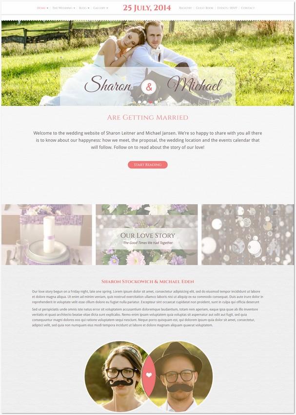 61 Latest Wedding Website Templates Free Premium Templatefor