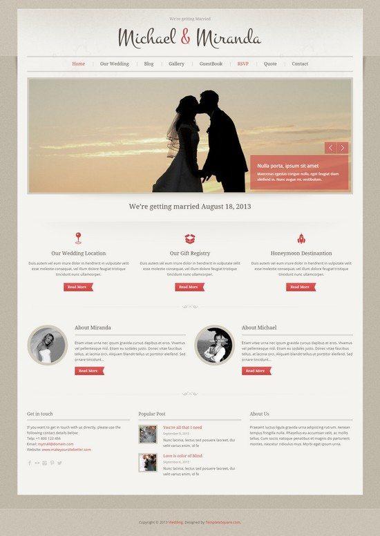 Wedding - Classic and Elegant WordPress Theme