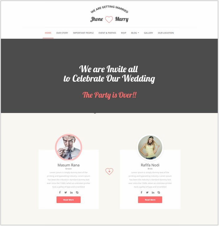 Wedding Day - Wedding HTML PHP Template