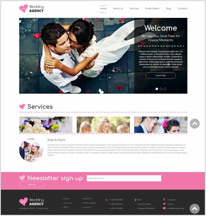 Wedding Planner Drupal PHP Template