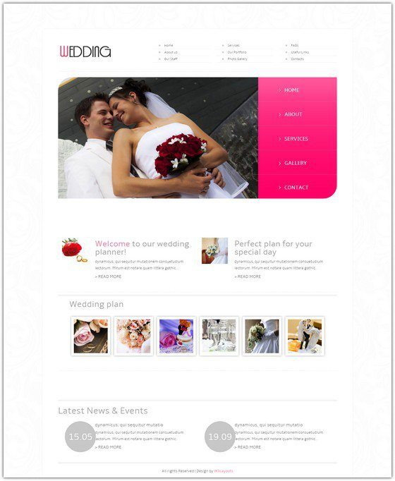 Wedding Planner Mobile Website Template