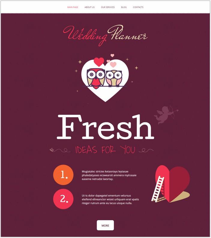 Wedding Planner WordPress PHP Theme