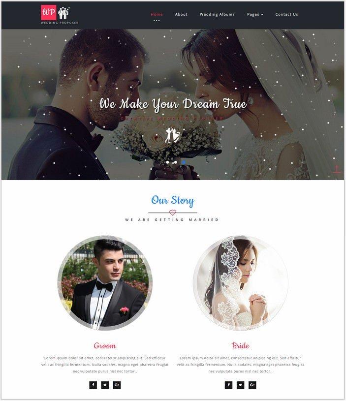Wedding Proposer Web Template