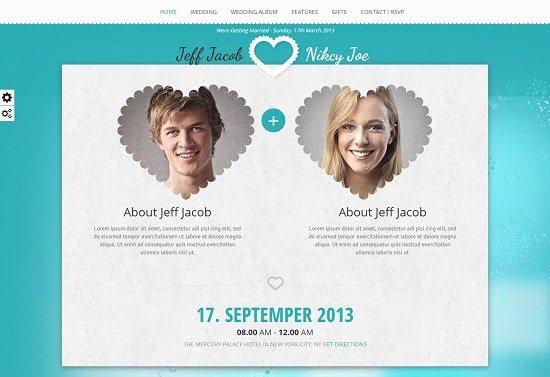 Wedding Slide Responsive Wedding Invite WordPress