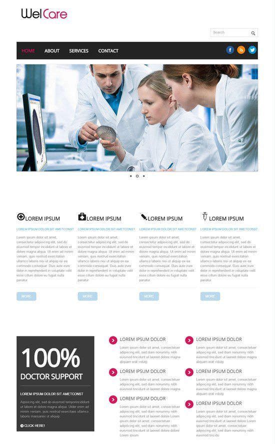 Welcare-Hospital-Mobile-Website-Template