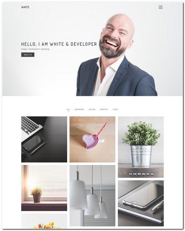 White WordPress Theme