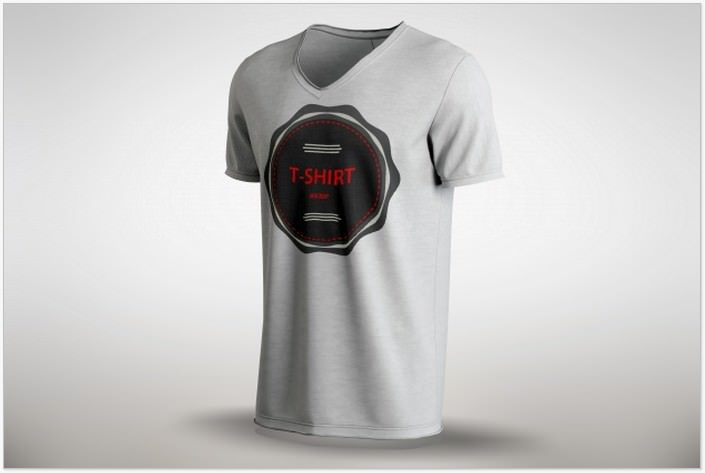 White T-shirt Mock up PSD Free