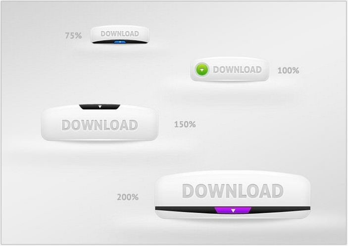 White Web Download Buttons