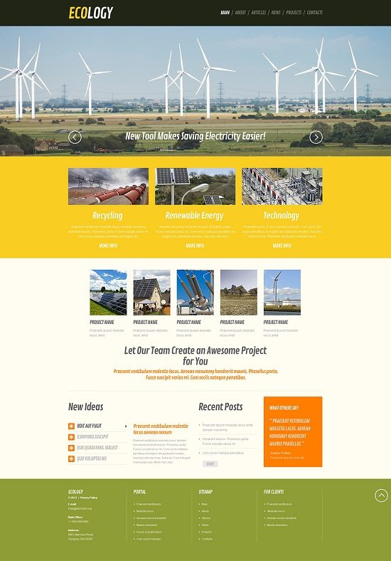 Wind Energy Responsive WordPress Theme