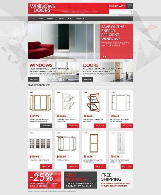 Windows Doors Store WooCommerce Theme