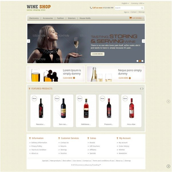 Wine Shop - Prestashop Responsive Theme