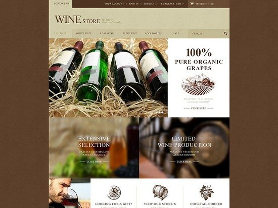 Wine Store Theme PrestaShop