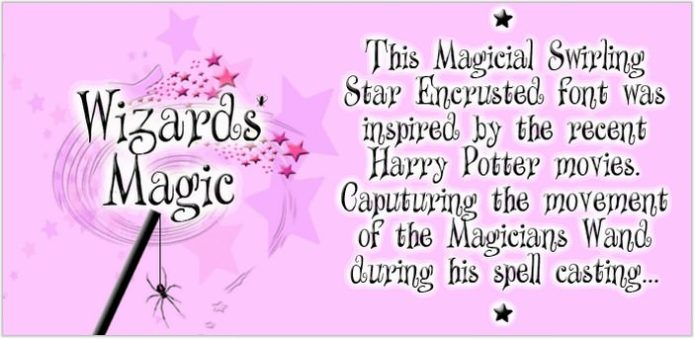 Wizards Magic Font by SpideRaYsfoNtS