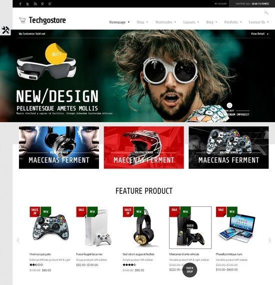 WooCommerce WordPress Theme - TechGoStore
