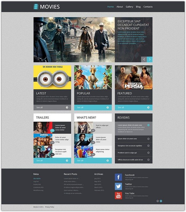 WordPress Theme Movie Responsive