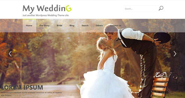 WordPress Weddings Theme