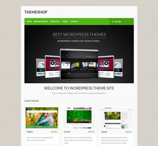 WordPress theme for themeshop