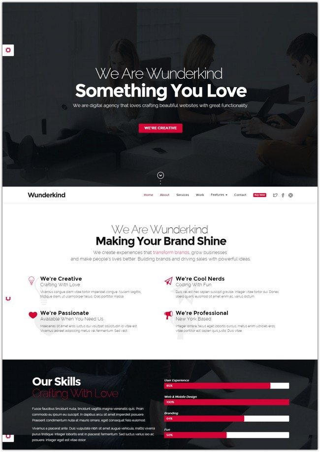 Wunderkind - One Page Parallax Theme