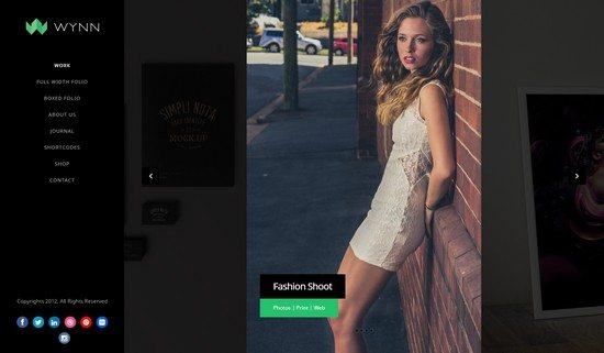 Wynn - Fullscreen Ajax Portfolio Photography Theme