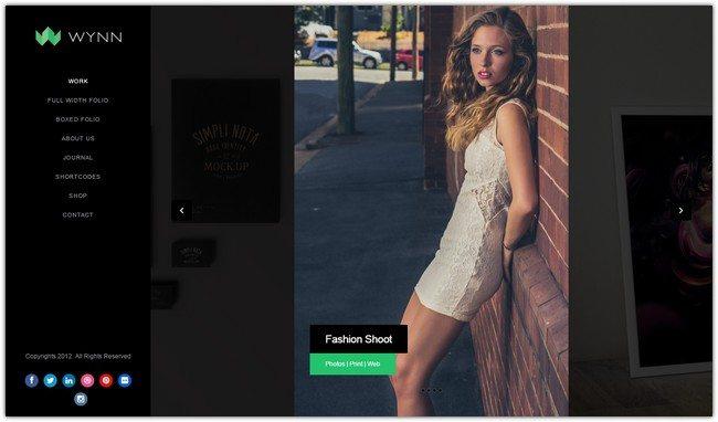 Wynn - Fullscreen Ajax Portfolio Photography Theme